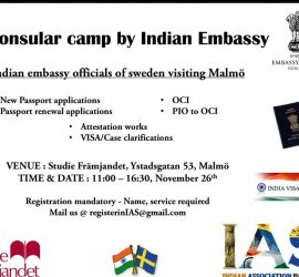 Counslar camp by Indian Embassy
