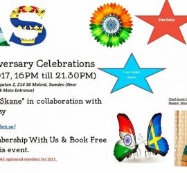 "IAS Grand 5th Anniversary Celebrations ""India Day In Skane"""